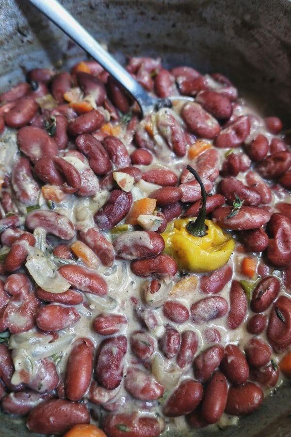 vegan jamaican stew peas gluten free  from the comfort