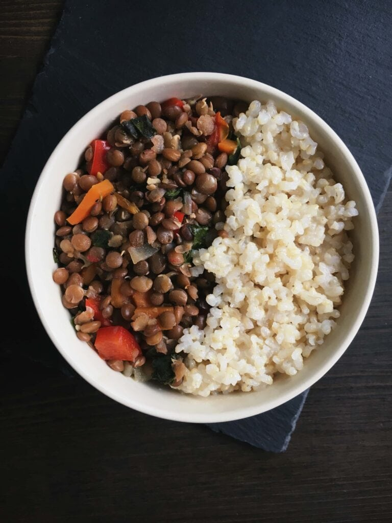 quick vegan lentil stew