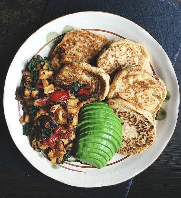 ultimate savory vegan breakfast for dinner