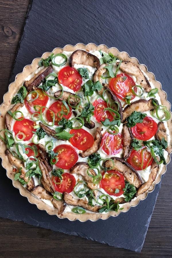 gluten free vegan quiche lorraine unbaked