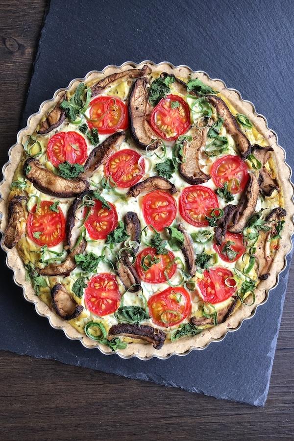 gluten vegan quiche lorraine baked