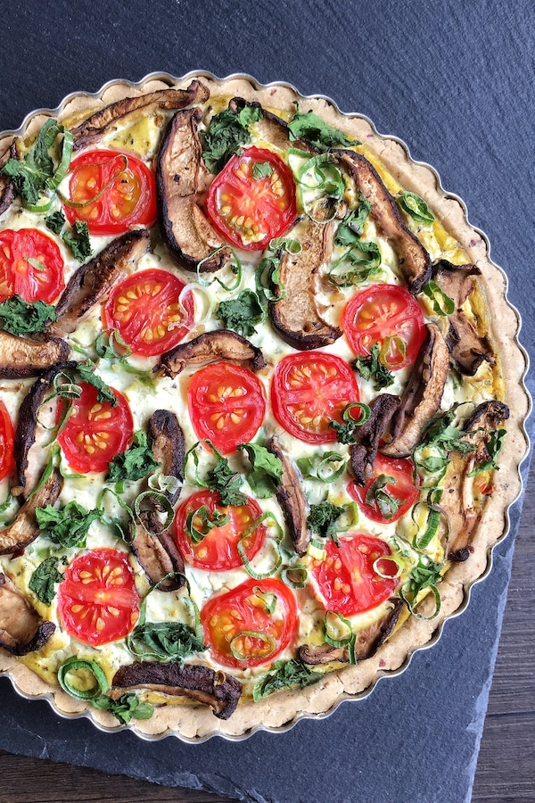 Vegan Quiche Lorraine Gluten free