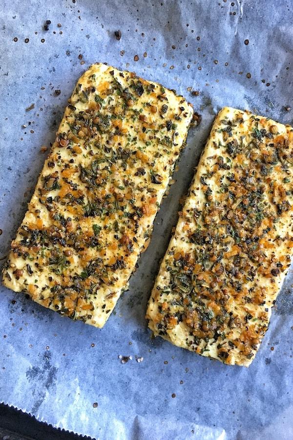 garlic and herb baked tofu